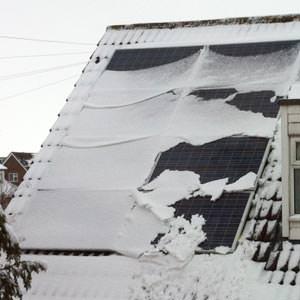 Snow on Solar PV