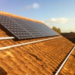 Solar PV in St Ives - part way through installation